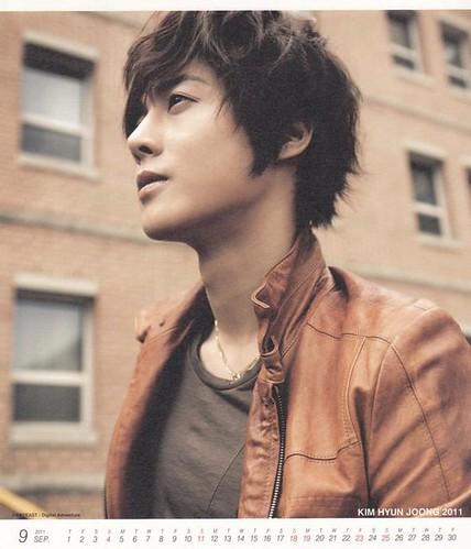 Kim Hyun Joong 2011 Calendar Sept