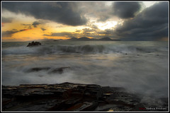 Clouds 'n' Waves (Andrea Frediani Photo) Tags: sunset panorama elba tramonto waves lanscape onde piombino palmaiola fredianiandrea