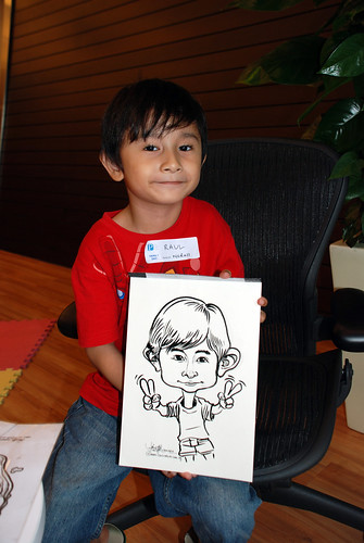 Caricature live sketching for Pan Pacific Hotels Group Family Day -6