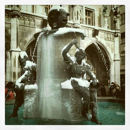 Fountain in Marienplatz, Munich