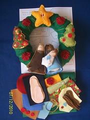 Projeto Guirlanda Sagrada Famlia. (edilmarasantiago) Tags: natal handmade artesanato artesanal craft felt guirlanda feltro projeto pap fieltro