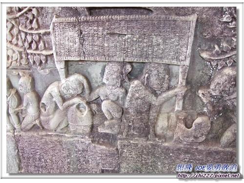 吳哥城-當地人民生活雕刻