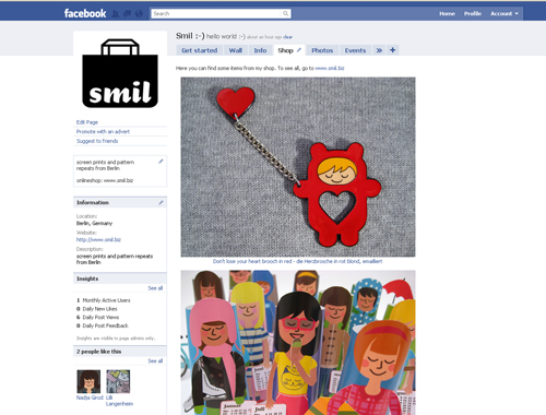 smil on facebook