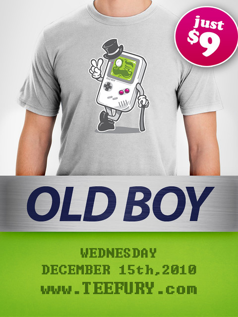 """Old Boy"" comes to TeeFury!!!"