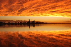 Why I Do What I Do (pominoz) Tags: sunset lake reflection clouds belmont nsw lakemacquarie thechallengefactory
