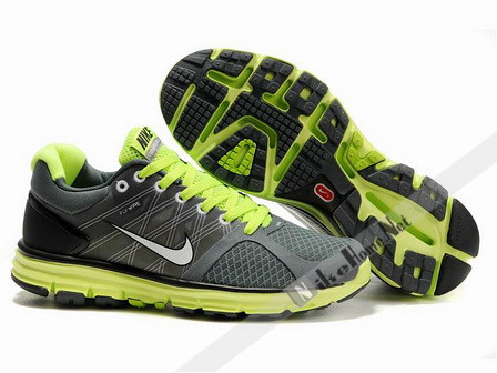Nike LunarGlide+ 2 Mens Running Shoes Dark Grey Volt Silver Black