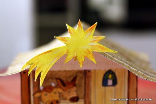 Manualidades navideñas para niños: Belén recortable de cartón