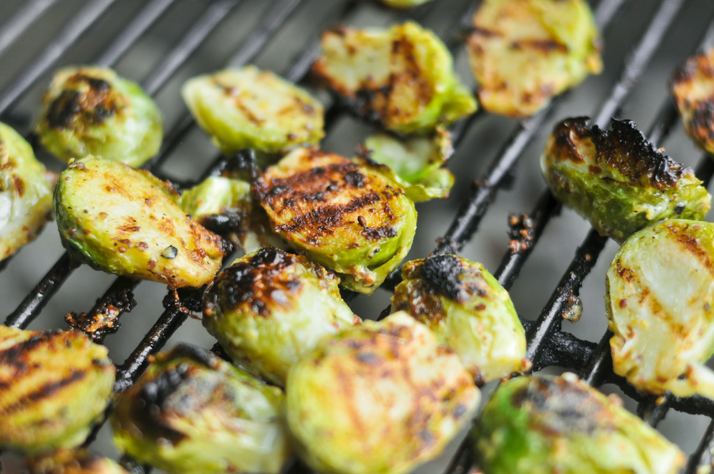 Crispy Mustard Brussels Sprouts