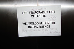 Lift temporarily out of order