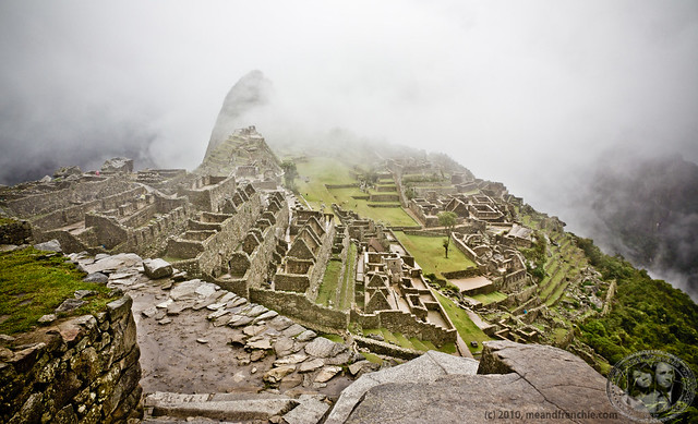 First Sight Of Cloudy Machu Picchu