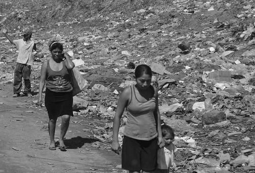 Trabajadores del vertedero de La Chureca