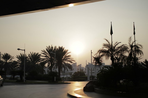 Outside Jumeirah Beach Hotel