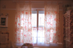 My new curtains (jemerasp) Tags: curtains cortinas maryrose craftroom shabbychic lecien fabricroses stichingroom habitacindecostura
