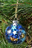 Upcycled Ornament In Blue