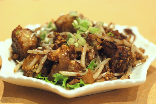 Fried Carrot Cake with XO Sauce.