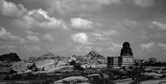 one of those ruins... (pradeep_kumbhashi) Tags: world camping bw india mountains heritage nature architecture trekking landscapes paradise centre glaciers serene kashmir himalaya karnataka sculptures carvings outofthisworld hampi stoneage indiatravel greenary findyourself himalayantrekking warwan warwanvalley