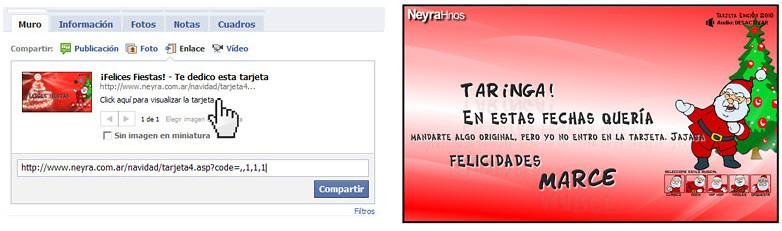 Tarjeta Navideña para compartir en Facebook - recomendado -