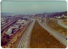 Interstate 5 Northbound - 1975 (KurtClark) Tags: seattle washington october ride i5 helicopter 1975 wa helicopterflight interstate5 october1975