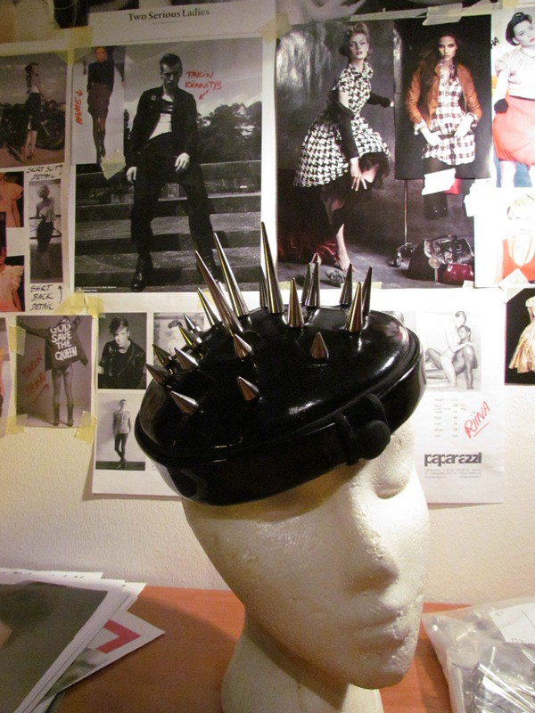 OutsaPop DIY spiked vinyl hat 6