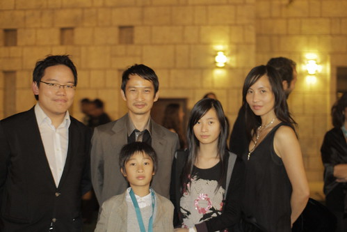 With NORWEGIAN WOODS director Tran Anh Hung, his wife Tran Nu Yen-Khe + family