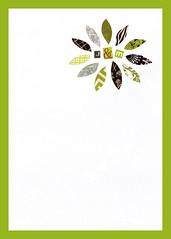 Wedding invite backdrop (Jennifer Mullin Johansson) Tags: wedding white black green floral collage magazine handmade invitation
