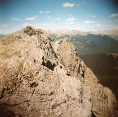 Meet me at Lookout Point (fields of bohemia) Tags: kananaskis holga alberta bliss devendrabanhart mtindefatigable summer2010