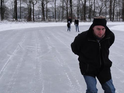 Marc skating in Ommen