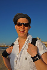 Daniela is a musician from Germany (Poupetta) Tags: musician woman tourist german themediterraneansea telavivbeach strangerintelaviv
