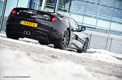Lotus Evora (Laurens Grim) Tags: auto winter light snow black colors car speed season photography 50mm mercedes nikon power lotus grim engine bert automotive brakes brake 18 rims laurens weight supercar evora exhaust sportscar spoiler horsepower cardealer maybach autodealer veenendaal caliper carspotting d90 blackonblack stemerdink