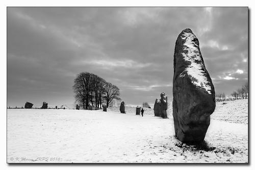 Avebury With Added Snow