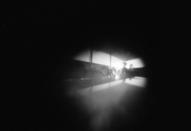 Ferry pinhole photo