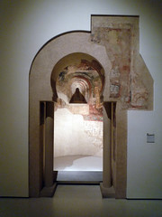 Reconstruction of south apse of the Epistle, Sant Quirze de Pedret with doorway
