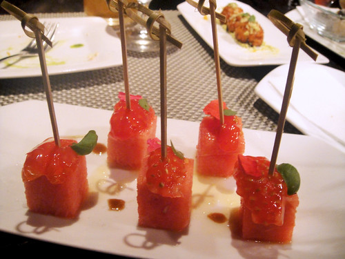 Watermelon/Tomato Skewers