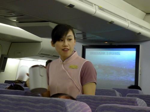 深圳軟件教學行@回程華航班機