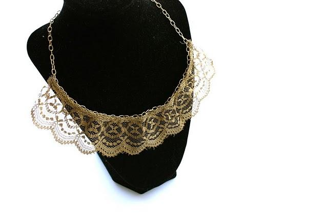 Lace necklace tutorial by Ruffles And stuff
