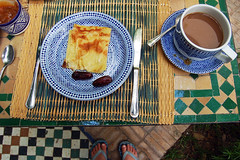 Breakfast in Fes. (rae.joanna) Tags: summer food art breakfast photography ceramics tea morocco pancake dates