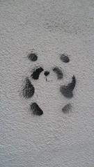 Ljubljana Graffiti Panda Bear Stencil (A.Currell) Tags: bear river graffiti stencil europe panda capital basin slovenia ljubljana laibach ljubljanica lubiana labacum