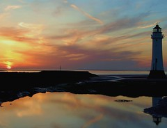 new brigton wirral coast england (plot19) Tags: new uk sunset sea england sky lighthouse west coast nikon britain north wirral brigton plot19 wirralcoast