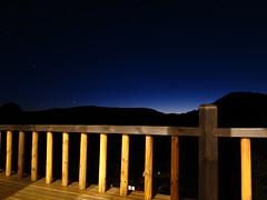 Deck Blues (Andre Carregal) Tags: from sky mountain silhouette skyline night stars long exposure estrelas cu deck da montanhas visto exposio viewed longa terreno silhueta varanda noturno sooc