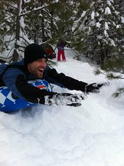 1/1/2011 - Sledding (niczak) Tags: california family winter mountain snow tree pine fun sledding truckee niczak prncsskt