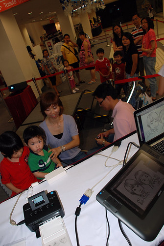 digital caricature live sketching @ Liang Court - day 3 - 4a