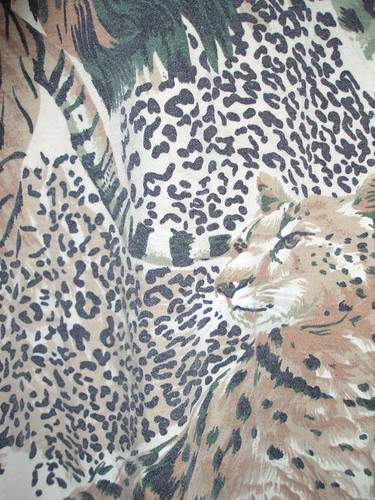 African Animal Print Dress (detail)