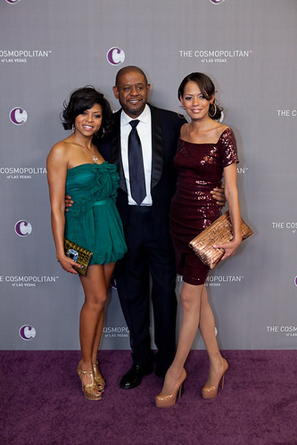 Taraji P. Henson, Forest Whitaker and Keisha Whitaker at The Cosmopolitan Grand Opening and New Year's Eve Celebration