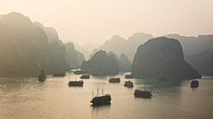 Golden Sunrise at Halong Bay (Sonja Blanco) Tags: sunrise golden vietnam amanecer sonia golfo quang ninh vnhhlong tokn sonjablanco