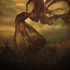 the day i caught the clouds (brookeshaden) Tags: mountain nature hat clouds veil dress victorian fabric day4 brookeshaden texturebylesbrumes