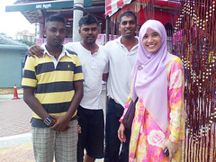 at a Deepavali bazaar, Brickfields