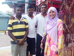 at a Deepavali bazaar, Brickfields