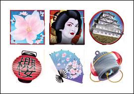 free Cherry Blossoms slot game symbols