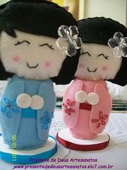 Kokeshi em feltro (Presente de Deus Artesanatos - Roberta) Tags: casa feltro boneca menina kokeshi enfeite lembrancinha bonecajaponesa kokeshifeltro