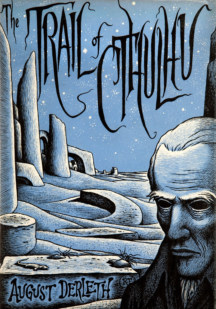 Richard Taylor (Cover Illustration) August Derleth The Trail of Cthulhu (Arkham House, 1962)